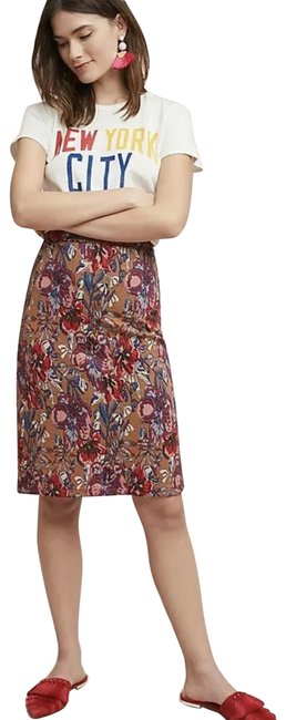 Item - Red Maeve Floral Golden Bliss Pencil Tapestry H26 Skirt Size 8 (M, 29, 30)