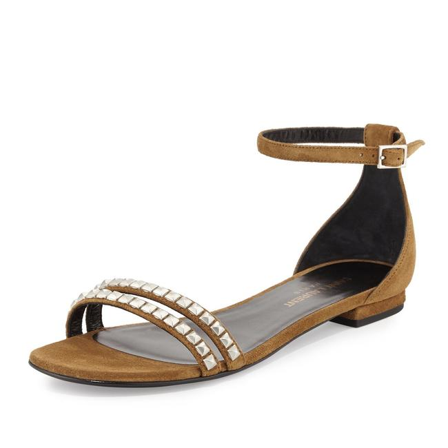 Item - Tan Suede Studded Ankle Strap Sandals Size EU 40 (Approx. US 10) Regular (M, B)