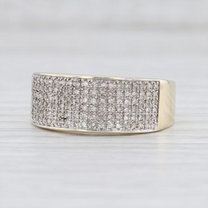 Joe Rodeo Yellow Gold 0.23ctw Diamond Pave Ring 10k Men's Wedding Band