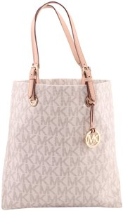 Michael Kors Jet Set Signature Mk Cheap Tote in White