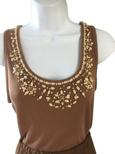 Sunny Taylor Top Brown with cream beads