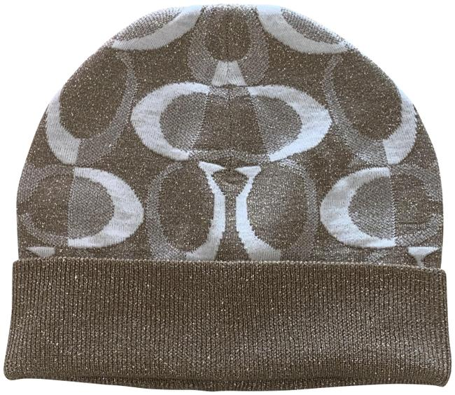 Item - Beige Wool Cc Logo Grey Shimmer Hat