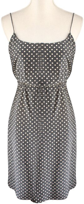 Item - Black and Cream Polka Dot Silk Short Night Out Dress Size 6 (S)