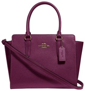 Coach Satchel in dark berry