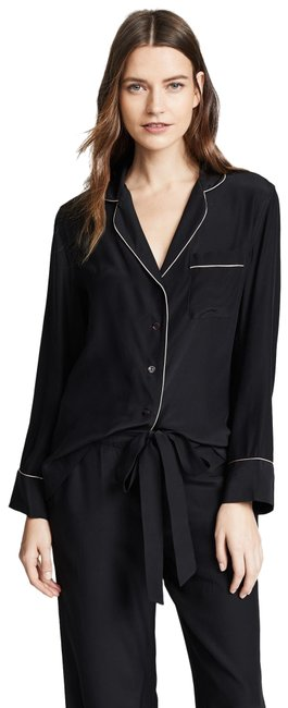 Item - New Sleeved Pajama Set Silk Button-down Top Size 4 (S)