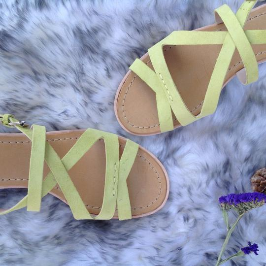French Connection Leather NEW lemon Sandals Image 1