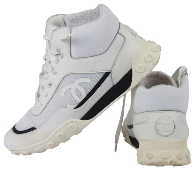 Item - White Leather High Top Warm Ankle Trainer Sneakers Size US 7.5 Regular (M, B)