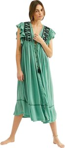 Free People short dress New Green Boho Bohemian Bali on Tradesy