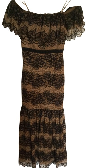 Item - Black and Tan Spaniard Inspired Long Formal Dress Size 4 (S)