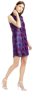 J.Crew short dress Purple Floral Jacquard Shift on Tradesy