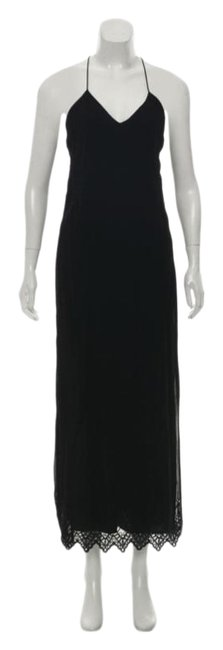 Item - Black Embroidered Mid-length Casual Maxi Dress Size 0 (XS)