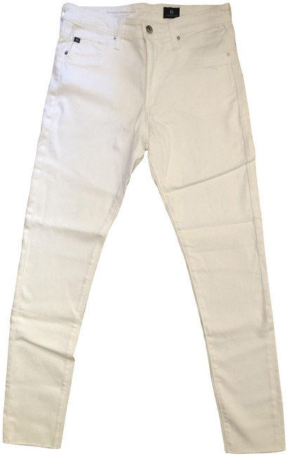 AG Adriano Goldschmied White The Farrah High-rise Skinny Ankle Relaxed Fit Jeans Size 29 (6, M) AG Adriano Goldschmied White The Farrah High-rise Skinny Ankle Relaxed Fit Jeans Size 29 (6, M) Image 1