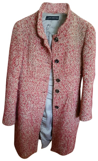 Item - Red Vtg Multi-color Boucle Small Coat Size 4 (S)