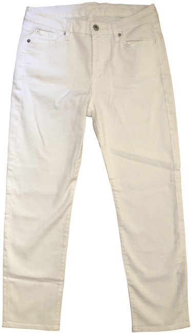 Item - White Kimmie Crop Straight Leg Jeans Size 29 (6, M)