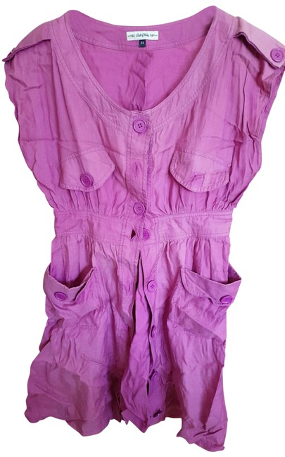 Item - Pink XS Fuchsia Rare Find Mid-length Short Casual Dress Size 0 (XS)