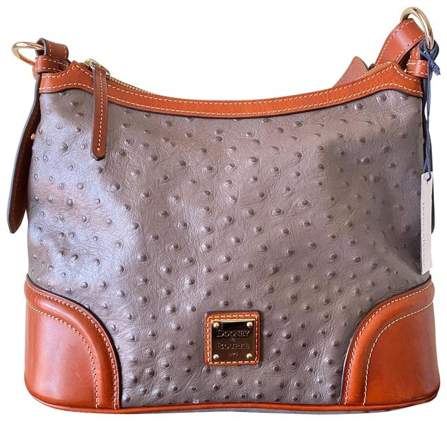 Item - Gray Ostrich Leather Hobo Bag