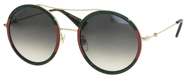 Item - Gold Green Glitter 0061 Web Round Oversized Metal Gg0061s Sunglasses