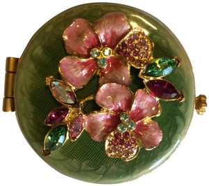 Jay Strongwater Floral Compact