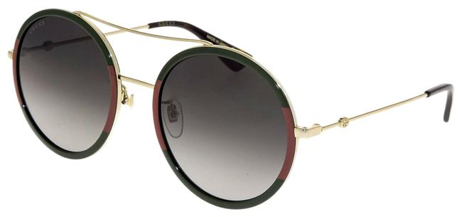 Item - Gold Green 0061 Red Web Round Oversized Gradient Metal Gg0061s Sunglasses