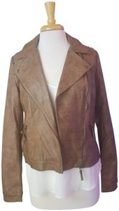 Blu Pepper Cognac/tan Leather Jacket