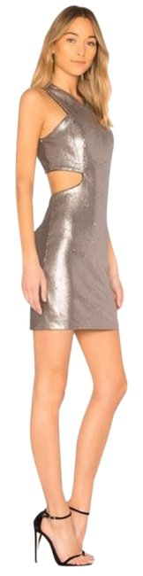Item - Silver Heritage Cut Out Sequin Short Cocktail Dress Size 2 (XS)