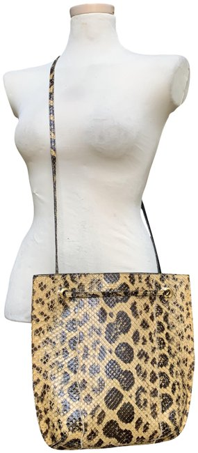 Item - Convertible Multicolored Snakeskin Leather Cross Body Bag