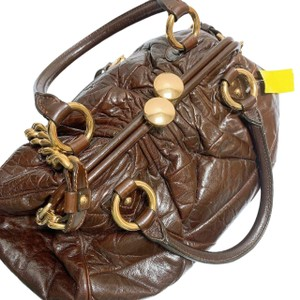 Marc Jacobs Leather Chain Satchel in Chocolate