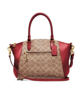 Coach Leather Longsleeve Ziptop Satchel in multicolor