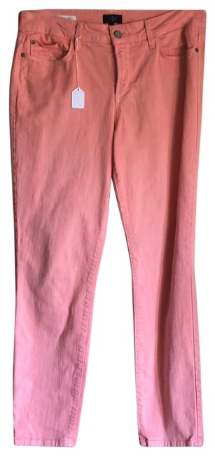 Item - Coral Light Wash Clarissa Fluorescent Zip Front Straight Leg Jeans Size 10 (M, 31)