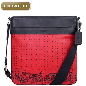 Coach Messenger Limited Edition Paisley Calf Leather Cross Body Bag
