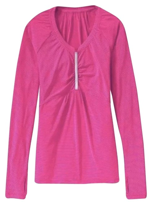 Item - Pink It Up Striped Activewear Top Size 8 (M)
