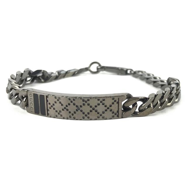 Item - Gray New 341913 Unisex Diamante Id with Web Bracelet