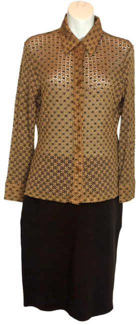 Item - Brown Hd032 Button-down Top Size 6 (S)