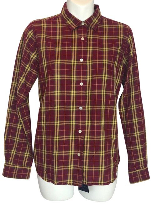 Item - Burgundy Button-down Top Size 6 (S)