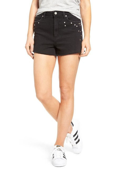 Item - Black Jeans Margot High Rise Studded Heart Shorts Size 8 (M, 29, 30)
