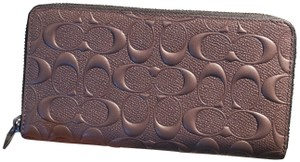 Coach Embossed Signature Durable Leather Wallet