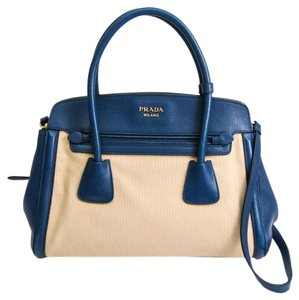 Prada Satchel in Beige / Bluette