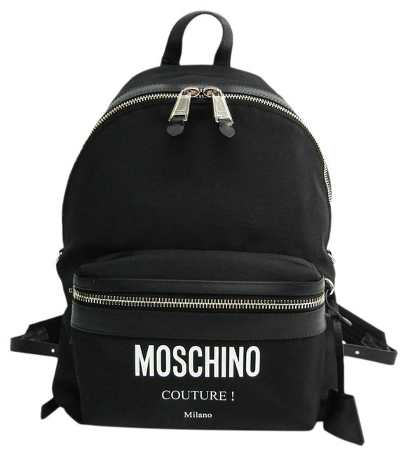 Item - Couture A76068201 Unisex Black / White Leather / Nylon Canvas Backpack