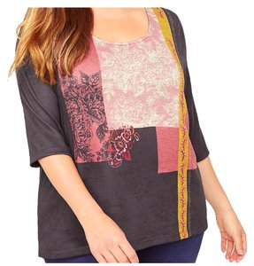 Catherines Plus-size Street Embellished Floral Tunic