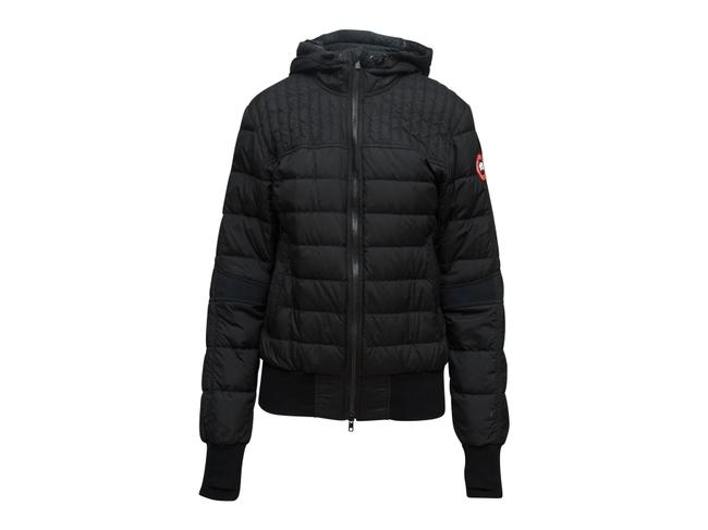 Item - Black Quilted Hooded Jacket Size 10 (M)