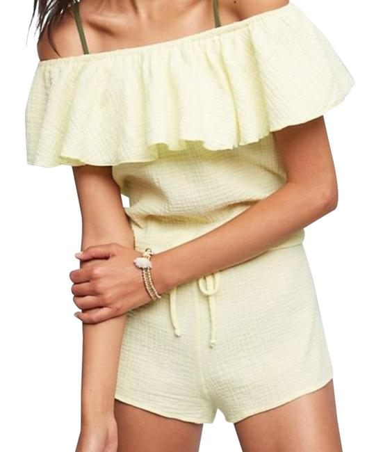 Item - Yellow Lucia Off The Shoulder Romper/Jumpsuit