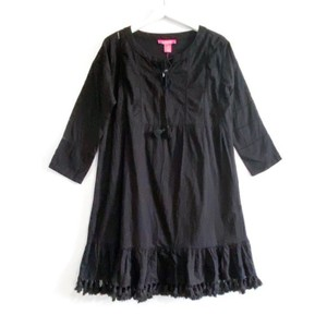 Catherine Malandrino short dress black Tassels Boho Cotton Ladder Lace on Tradesy