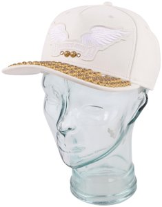 Robin's Jean Robins Jean Embellished Leather Hat