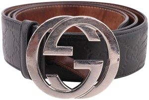 Gucci Gucci GG Embossed Leather Belt 90/36