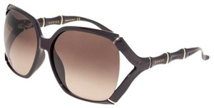 Gucci Gucci Aubergine Violet Bamboo Gg0505s Brown Gradient Oversized 3508 05