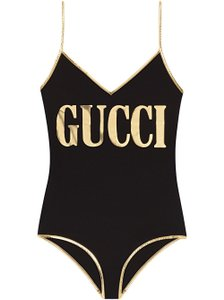 Gucci Stretch Fabric Swimsuit with Gucci Print