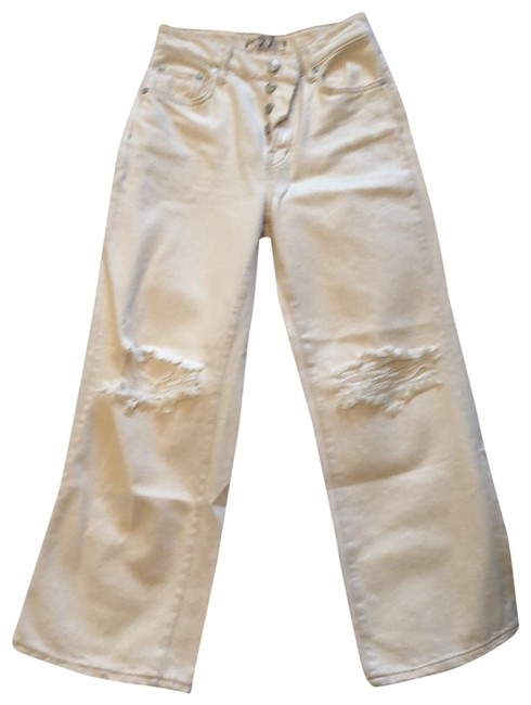 Item - Off White Distressed Capri/Cropped Jeans Size 4 (S, 27)