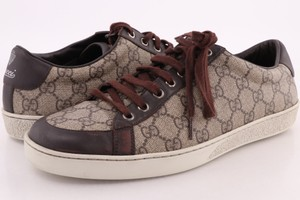 Gucci Brown/Beige Brooklyn Gg Supreme Canvas Sneakers Shoes