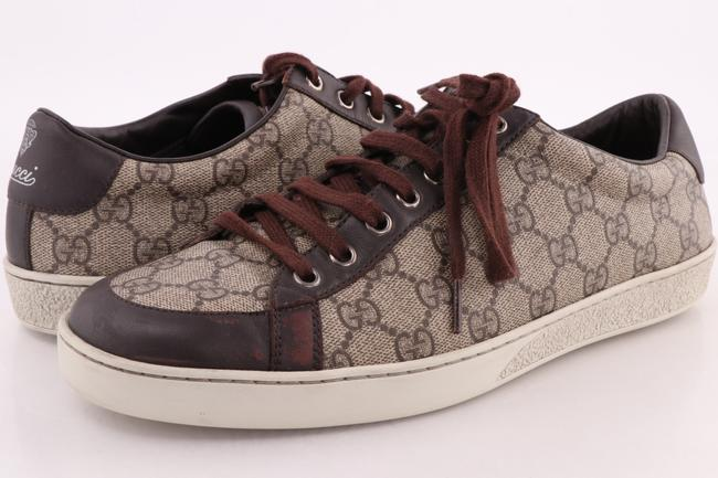 Item - Brown/Beige Brooklyn Gg Supreme Canvas Sneakers Shoes
