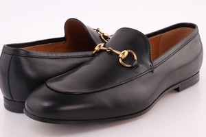 Gucci Black Jordaan Leather Loafers Shoes